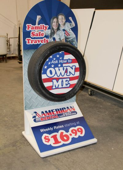 displays manufacturers American Rental Tire Pedestal