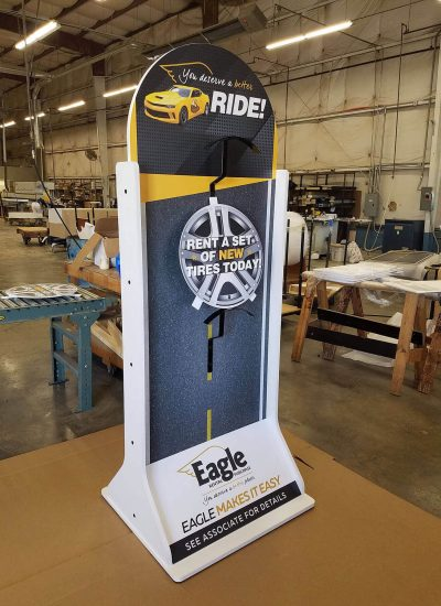 Store Display fixtures Eagle Rental Tire